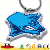 Animal fresco Keychain da corrente chave do PVC da cabeça do lobo