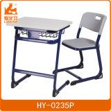 타원형 강철 관 학교 가구 학생 책상 및 의자 /High 질 플라스틱 단 하나 책상 및 의자
