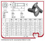 Acero inoxidable 304 316 Tornillo de carro DIN603 M20