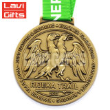 Médaille faite sur commande en métal de sport de qualité avec la tête de dragon