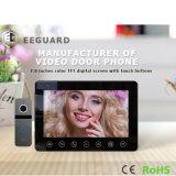 """ホームセキュリティー7の""""ビデオドアの電話インターホンの相互通信方式"""