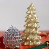 Pilar de la Navidad Velas Velas artesanales con Glitter
