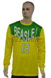 Kundenspezifisches Team-Firmenzeichen-langes Hülsen-Basketball-Schießen-Hemd (BK026)