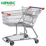2 уровня двойной корзины покупок передвижной тележке