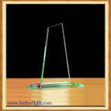 Trofeo cristalino transparente de encargo de la concesión