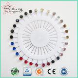 固定のためのカラーアクリルのヘッド棒のHijab装飾的な分類されたピン