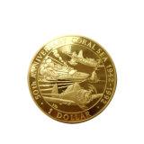 3D personalizado directo de fábrica militar de la moneda de oro de recuerdos con Soft enamel