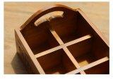 Bandeja de madera modificada para requisitos particulares barata del vajilla del hogar de la insignia