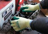 10g Vibrasion-Resistant безопасности рабочие перчатки с покрытием из латекса Crinkled