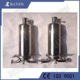 Acero inoxidable de grado alimenticio Ss Sistemas de filtración de líquidos de filtro de cartucho