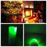 Proyector de la vela; Vela verde del laser; vela de la Navidad; Vela del LED