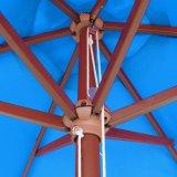 paraguas plegable del patio del jardín del marco de madera de los 7FT