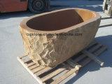 浴室の家具のための自然な石造りの軸受けの砂岩か花こう岩または大理石の石造りの浴槽
