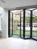 Portello di piegatura di alluminio di vetro del doppio poco costoso di prezzi di alta qualità sulla vendita