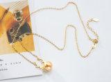 Ювелирные изделия способа для подарка рождества с родием ожерелья перлы &Shell AAA CZ и покрынными Rose ожерельями женщин ювелирных изделий (543075686035)