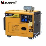 Tipo silencioso refrigerado conjunto de generador diesel (DG5500SE+ATS)