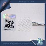 Texto personalizado Garantia Inviolável Holograma Adesivo de Segurança