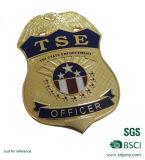 Projetar o metal morrem o emblema da polícia da carcaça com cor de prata