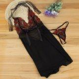 Women Sexy Linen room Nightwear Underwear Sleepwear Laces Babydoll Dress G-String