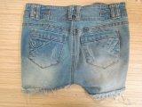 Schöne Qualität gebrochene waschende kurze Jeans für Dame (HDLJ0015-17)