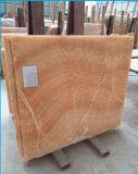 Lastra gialla naturale del marmo della pavimentazione del Onyx del miele per la priorità bassa della parete