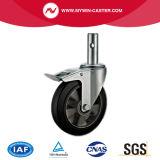 Type en caoutchouc chasses industrielles de l'Europe de faisceau en aluminium rond de cheminée de frein de 6 pouces