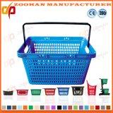 Panier simple de traitement de Palstic de supermarché cosmétique empilable populaire de mémoire (Zhb147)