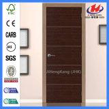Puertas internas interiores lisas de la chapa de la madera dura de 2-Panel Prehung