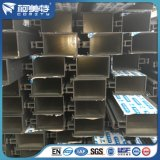 Revêtement en poudre marron 6063 T5 profils en aluminium pour dissimulé mur rideau du châssis