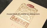 Estampación Logotipo estampado en caliente laminado brillante caja de papel de oro