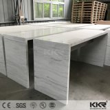 Decay White acrylic solvently Surface Office Reception Desk