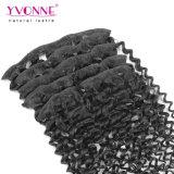 毛の拡張の上の毛の品質のマレーシアの巻き毛クリップ