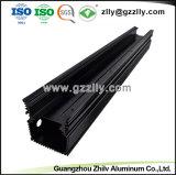 6063 T6 LEIDENE van het Aluminium van de Fabrikant eindigt het Zwarte Profiel met het Anodiseren