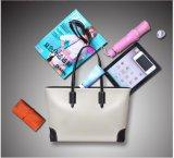広州の工場女性PUの革ハンドバッグの女性デザイナー方法ハンドバッグ