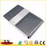 Metallo di affari e cuoio personalizzati Cardcase nome con il marchio impresso