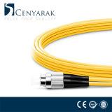 LC unimodal al cable óptico de la fibra Polished de FC Upc