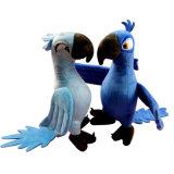 주문을 받아서 만들어진 고명한 특성 앵무새 Aniaml 견면 벨벳 장난감