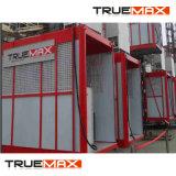 Truemax double de la section de mât en acier galvanisé passager de la cage d'un palan