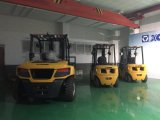 Forklift Diesel da tonelada 2WD da maquinaria de construção 3.5 de XCMG para a indústria da construção civil