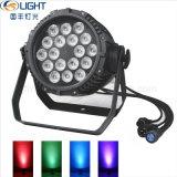 18*10W RGBW 4in1는 LED 동위 빛을 방수 처리한다