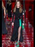 Платье вечера выпускного вечера Colorblock европейских женщин типа длиннее