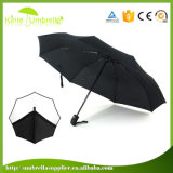 極度の軽量の黒い自動開いた昇進3のフォールドの傘