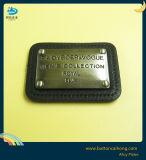 金属のハンドバッグによって刻まれる金属の一流版のための革荷物の札