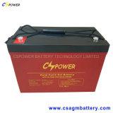 12V100ah solaire à cycle profond batterie gel, DOD de 50% 1500Les durées de cycle