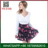卸し売り安いV首のオフィスの女性のための長い袖の女性の服