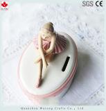 Decoración de cerámica de encargo del vector del hogar del rectángulo de dinero del estilo del bailarín de ballet de la batería guarra
