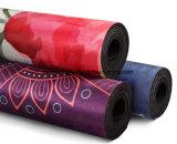 주문 풀 컬러 인쇄된 스웨드 요가 매트 인쇄