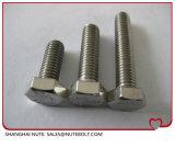 Boulon à tête hexagonale en acier inoxydable DIN933ANSI filetage complet M4X8...M4X60