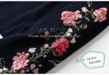 Sleeved europäische Ordnungen gestickte Blumen ringsum Stutzen-Hemden und Hoodies von Form-Kleidung