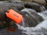 Gelber wasserdichter trockener Sack für das Schwimmen, Fischerei, tauchend, Bootfahrt